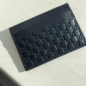 Gucci Bags - Gucci Dark Navy Guccisima Card Case Wallet